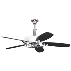 Kichler Ceiling Fan with Light Kit in Midnight Chrome Finish