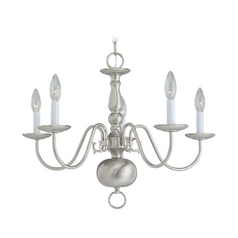 Sea Gull Lighting 5-Light Chandelier in Brushed Nickel
