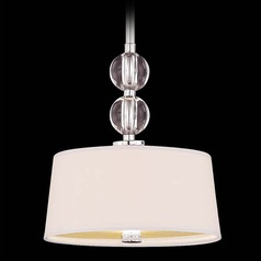 Savoy House Polished Nickel Mini-Pendant Light with Drum Shade