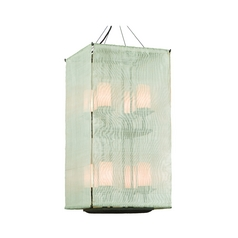 Troy Lighting Pendant Light with White Glass in Weathered Bark Finish F2206WB