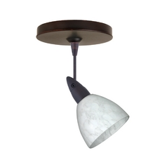 Modern Directional Spot Light with White Glass in Bronze Finish