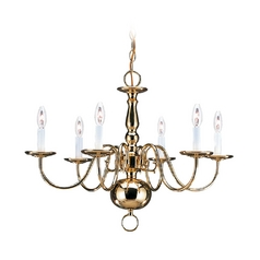 Chandelier in Polished Brass Finish