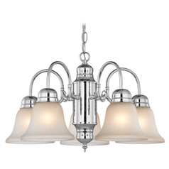 Mini-Chandelier with Caramel Glass in Chrome Finish