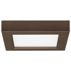 5-1/2-Inch Square Bronze LED Flushmount Ceiling Light - 2700K