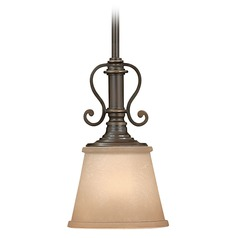 Hinkley Lighting Mini-Pendant with Decorative Scrolls 4247OB