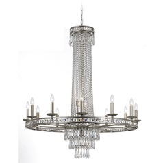 Crystorama Lighting Mercer Olde Silver Crystal Chandelier