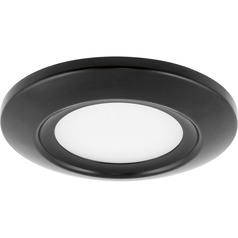 Progress Lighting LED Flush Mount Black LED Flushmount Light