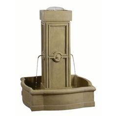 Kenroy Home Quatrafoil Sandstone Outdoor Fountain