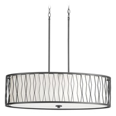 Wemberly Graphite Pendant Light with Oval Shade by Progress Lighting