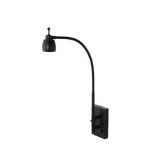 LEDs by ZEPPELIN Plug-In LED Wall Light with Gooseneck Arm in Black Finish 822-BK