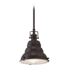 Farmhouse Mini-Pendant Light Bronze Eastvale by Quoizel Lighting