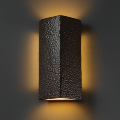 Sconce Wall Light in Hammered Iron Finish