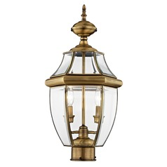 Livex Lighting Monterey Antique Brass Post Light