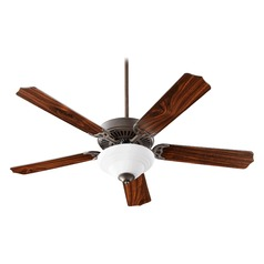 Quorum Lighting Capri Iii Oiled Bronze Ceiling Fan with Light