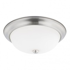 HomePlace Lighting Ceiling Brushed Nickel Flushmount Light