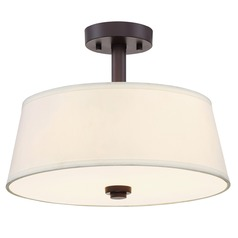Designers Fountain Studio Satin Bronze Semi-Flushmount Light