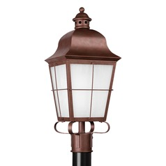 Sea Gull Lighting Chatham Weathered Copper LED Post Light