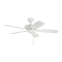 Kichler Ceiling Fan Without Light in White Finish