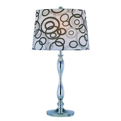 Lite Source Cirkel Chrome Table Lamp with Empire Shade