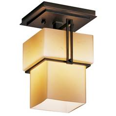 Single-Light Semi-Flush Ceiling Light