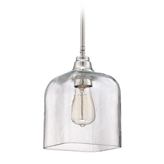 Craftmade Chrome Mini-Pendant Light with Bowl / Dome Shade