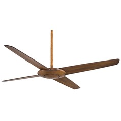 Minka Aire Pancake Distressed Koa Ceiling Fan Without Light