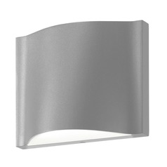Sonneman Drift Textured Gray LED Outdoor Wall Light