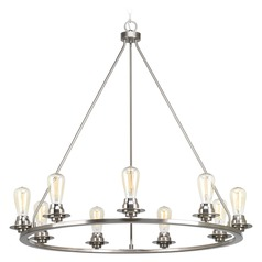 Progress Lighting Debut Brushed Nickel Chandelier