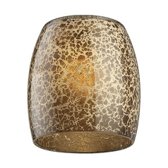 Monte Carlo Fans Gold Speckle Bowl Art Glass Shade - 2-1/4-Inch Fitter Opening G1055
