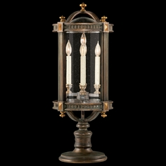 Fine Art Lamps Beekman Place Woodland Brown with Gold Highlights Post Lighting