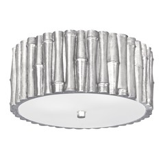 Crystorama Lighting Masefield Antique Silver Flushmount Light