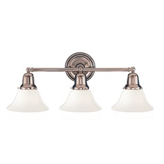 Hudson Valley Lighting Edison Collection Polished Nickel Bathroom Light