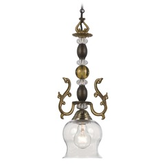 Crystorama Lighting Kendall Fiesta Mini-Pendant Light with Bowl / Dome Shade