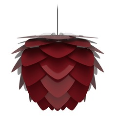 UMAGE Black Pendant Light with Ruby Metal Shade