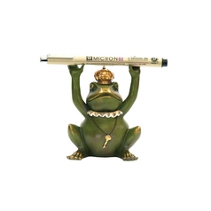 Sterling Novelty Frog King Pen Holder