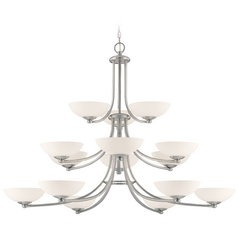 Dolan Designs Rainier 3-Tier 15-Light Chandelier in Satin Nickel