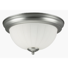 Jeremiah Brushed Satin Nickel Flushmount Light