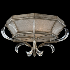 Fine Art Lamps Beveled Arcs Silver Leaf Flushmount Light