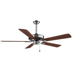 52-Inch Minka Aire Contractor Plus Brushed Nickel Ceiling Fan Without Light
