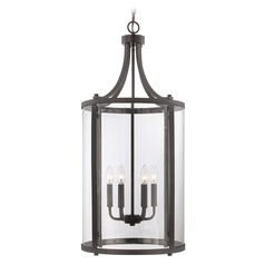 Savoy House English Bronze Pendant Light with Cylindrical Shade