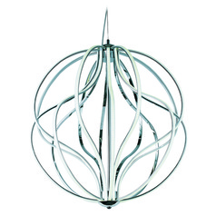 Aura Polished Chrome LED Pendant Light