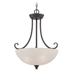 Designers Fountain Kendall Oil Rubbed Bronze Pendant Light with Bowl / Dome Shade