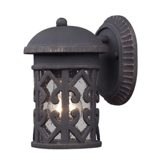 Outdoor Wall Light with Clear Glass in Weathered Charcoal Finish