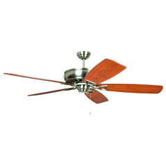 Craftmade Lighting Supreme Air Brushed Polished Nickel Ceiling Fan Without Light