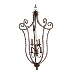Quorum Lighting Tribeca Ii Oiled Bronze Pendant Light