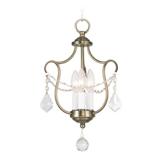 Livex Lighting Chesterfield Antique Brass Pendant Light