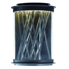 Maxim Lighting Bedazzle Texture Ebony, Polished Chrome LED Outdoor Wall Light