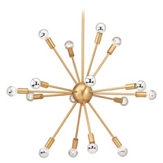 Mid-Century Modern Cluster Chandelier Bronze Ion by Progress Lighting