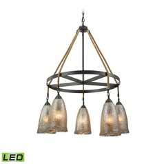 Mercury Glass LED Chandelier Oil Rubbed Bronze Elk Lighting