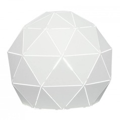 Lite Source Pandora White Table Lamp with Globe Shade